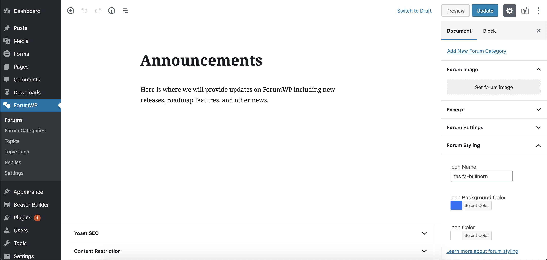 Features - ForumWP